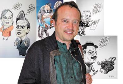 Inaugura el caricaturista Rocha exposición en Oaxa