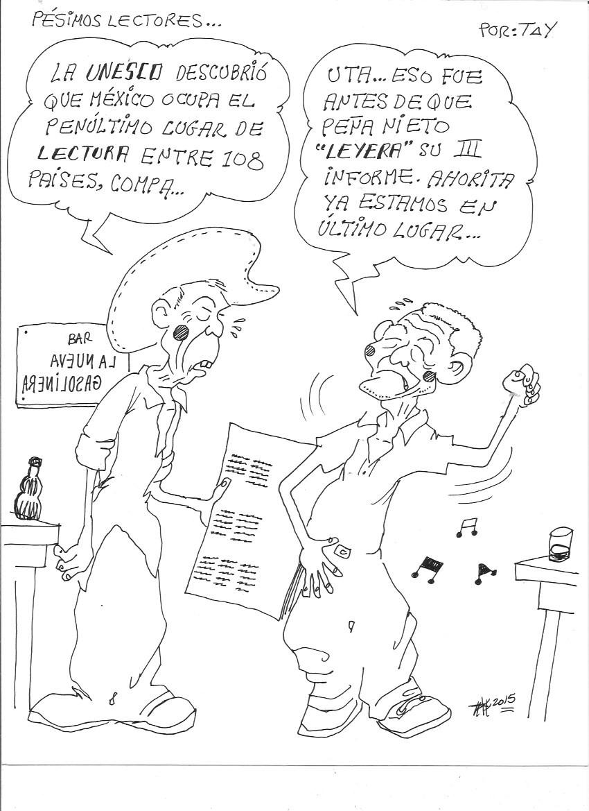 PESIMOS LECTORES (1-sep-15) Tay